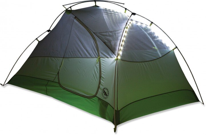 Big Agnes tents now come with LED lighting.