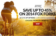 fox suspension forks sale 2014