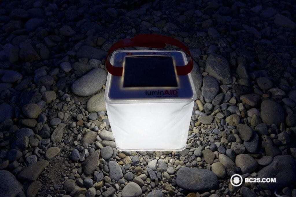 luminaid packlite nova lantern in dark bc25